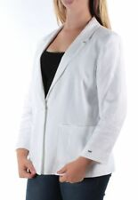 TOMMY HILFIGER  Womens White Blazer  Jacket 12 Wear To Work
