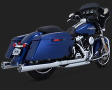 """Vance and Hines 4"""" Monster Slip On Mufflers Chrome For Harley 2017-18 FL Models"""