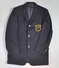 Vintage Men's Navy Wool Jacket Embroidered Music Badge Cortley Clothes Size M
