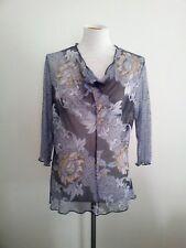 Effortless Style! Tiffany Treloar size L blue polyester & spandex mesh top