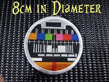 Quality Iron/Sew on Test Card Patch pattern zombie screen tv television tet