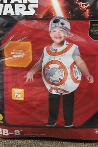 BB-8 STAR WARS TODDLER COSTUME 2T 3T 4T Boys Droid Halloween Force Awakens NEW