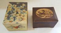 Swiss wood vintage Art Deco antique music box A