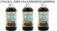 3 PACK'S- Dynamic Health Laboratories,Black Elderberry,Superfruit Tonic,8 fl oz