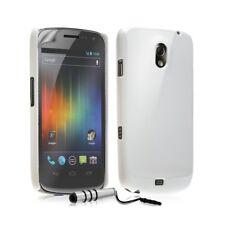 Housse Étui Coque Rigide Brillante Pour Samsung Galaxy Nexus Couleur Blanc Nacré