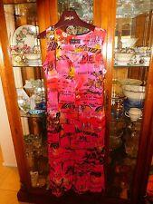 Jams World  Dress NEW NWT Hawaiian GRAVURE French XL Cruise Lounge Beach Pink