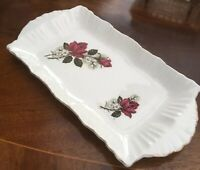 Vintage Sandwich Tray/Platter. BESWICK. 28x14 Cm. Red Roses. Dressing Table.