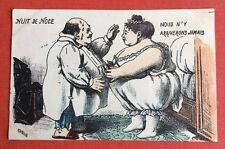 CPA. Illustrateur CARLE. 1904. Nuit de Noce. Humour. Grivois.Nous n'y arriverons