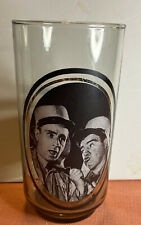 Vintage 1979 Abbott & Costello Actor Glass Cup Tumbler Arby's Collector Series
