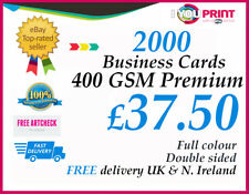 2000 Business Cards / 400gsm / Double Sided - FREE Delivery - Premium Quality