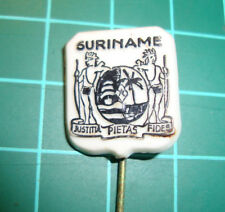 Suriname Surinam - stick pin badge 60s vtg speldje