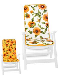 Cuscino sedia morbido poltroncina coprisedia giardino interno esterno girasoli