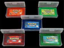 5Pcs Pokemon Game Cards Emerald/Sapphire/LeafGreen/FireRed/Ruby GBM/GBA/SP/NDS