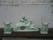 Ceranord pendule et 2 vases en céramique couple romantique