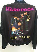Joe Camel Men's Large Jacket Black Satin Hard Pack US Tour Coat 1991
