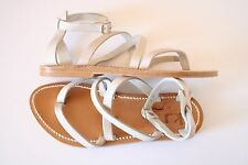 K. Jacques for J.Crew Leather Epicure Sandals 40 9.5-10 Flats White