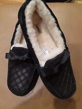 UGG Women's Size 12 W Dakota Double Diamond Black Slippers Brand New with Tags.