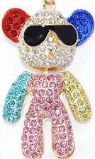 TEDDY BEAR MULTI Keyring Diamante Rhinestone Crystal Ladie Bling Handbag Bargain