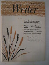 The Writer Magazine. September 1974- Max Gunther! Frank Bonham! Morris Hershman!