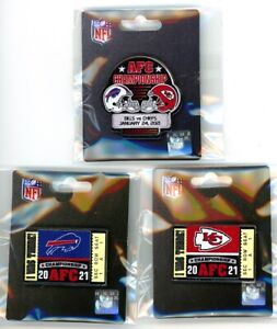 2021 AFC Championship Pin Choice Bills vs Chiefs, I Was There Ticket Pins NFL LV
