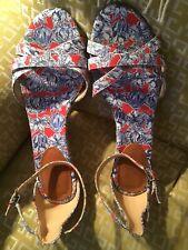 JCREW LIBERTY Fabric Sandals, Sz 10