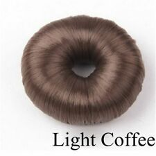 Bun Maker Doughnut Magic Roll Tool DIY Hair Foam Ring Shaper Snap Lock Rolls Light Coffee