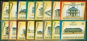 Norfolk Island 1973 Historic Buildings Set of 16 SG133-148 Very Fine MNH