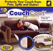 Couch Coat Reversible Sofa Cover Protect Couch From Spills Stains Shedding Pets