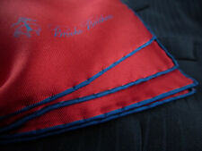 BROOKS BROTHERS Pocket Square Silk Handkerchief 100% Silk Red NWOT $45 New