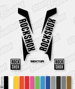Rockshox SEKTOR 2015 2016 Style Replacement Decals - Custom / Fluorescent Colour