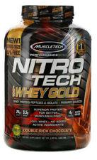 2 x Muscletech, Nitro Tech, 100% Gold, Whey Protein Powder Chocolate, 2 x 2.51kg