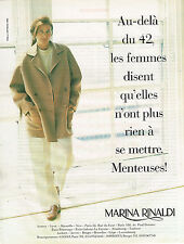 PUBLICITE ADVERTISING 045  1996  MARINA RINALDI  haute couture  veste