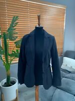 NEW NWT H&M Blazer Jacket Size 10 Black Work Career Outfit Suit Women's