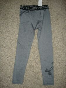 Under Armour coldgear compression pants boys youth size (M) YM gray