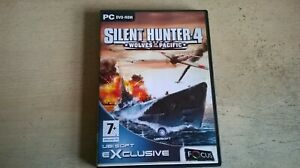SILENT HUNTER 4 WOLVES OF THE PACIFIC - U-BOAT PC GAME - FAST POST- COMPLETE VGC