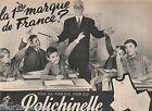 PUBLICITE de presse sous-vêtements Polichinelle 1961 French press ad