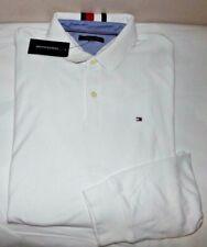 NWT MENS Tommy Hilfiger L/S Polo Shirt~WHITE~SZ XL