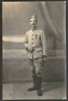 MEDAL RECIPIENT WW1 WAR CROSS MILITARY ANTIQUE RPPC PHOTO POSTCARD