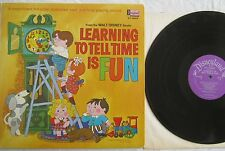 Learning To Tell Time Is Fun  LP Walt Disney ST3959 w/booklet VG+