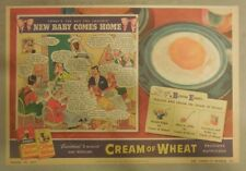Cream Of Wheat Cereal Ad: New Baby Comes Home! 1930's-1940's 11 x 15 inches
