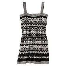MISSONI FOR TARGET-WOMENS DRESS-BLACK/WHITE-ZIGZAG-SIZE S