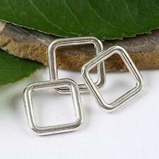 15pcs Tibetan silver square charm findings h1505
