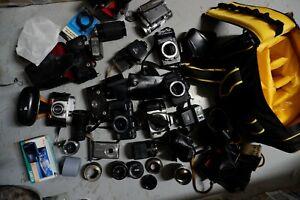 FILM CAMERAS LENSES SLR SPARES OR REPAIR Zeiss Casio Ricoh Minolta Panasonic