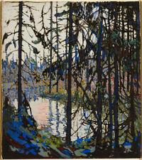 """Handmade Oil Painting repro Tom Thomson. Study for """"Northern River"""""""