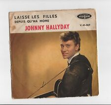 TRES RARE SP VOGUE ORIGINAL JOHNNY HALLYDAY V.45-869 ETAT VOIR SCAN MERCI