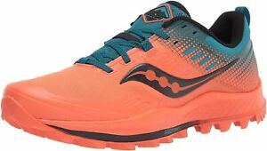 Saucony Trail Running Shoes Peregrine 10 ST Mens Orange Blue