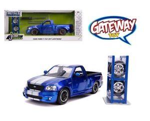 1/24 Jada JUST TRUCKS 1999 Ford F-150 SVT Lightning with Extra Wheels Blue 31567