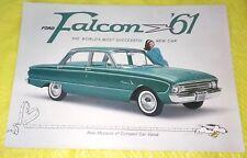 Vintage 1961 Ford Falcon '61 D8442 Stock Sales Brochure Peanuts Snoopy