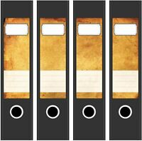 4 Ordner Etiketten Rücken-schilder selbstklebend Aktenrücken kurz breit Neu 9