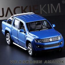 1:32 Scale Volkswagen Amarok Diecast Pick Up Truck SOUND LIGHT 4-Doors Open Blue